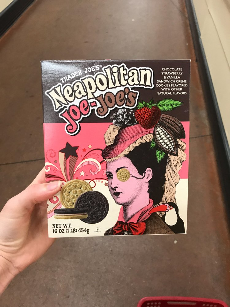 box of neapolitan joe-joe's