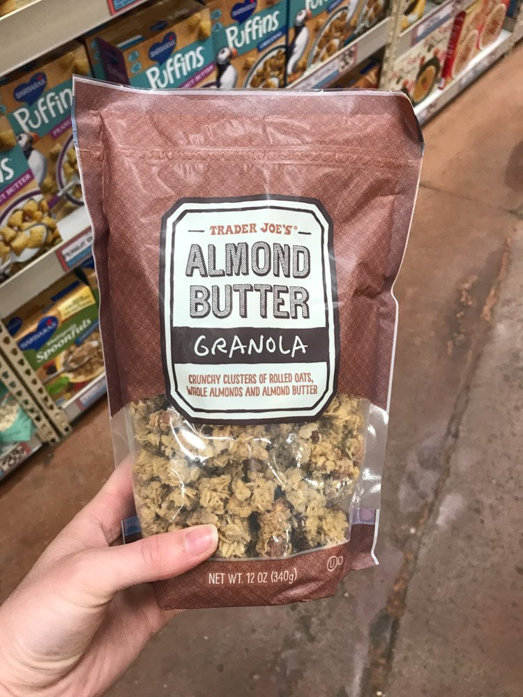 bag of almond butter granola
