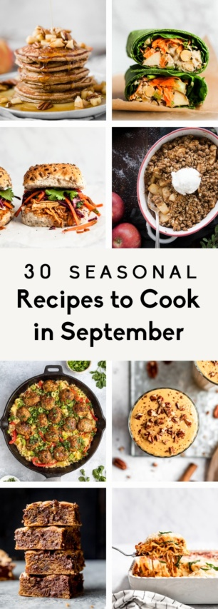 collage of recipes to cook in September