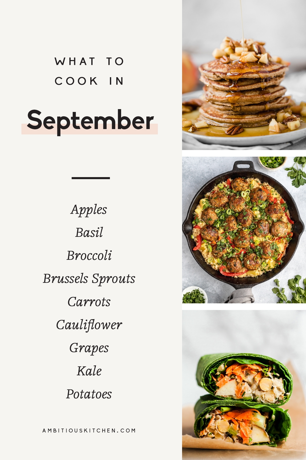 collage of what to cook in September