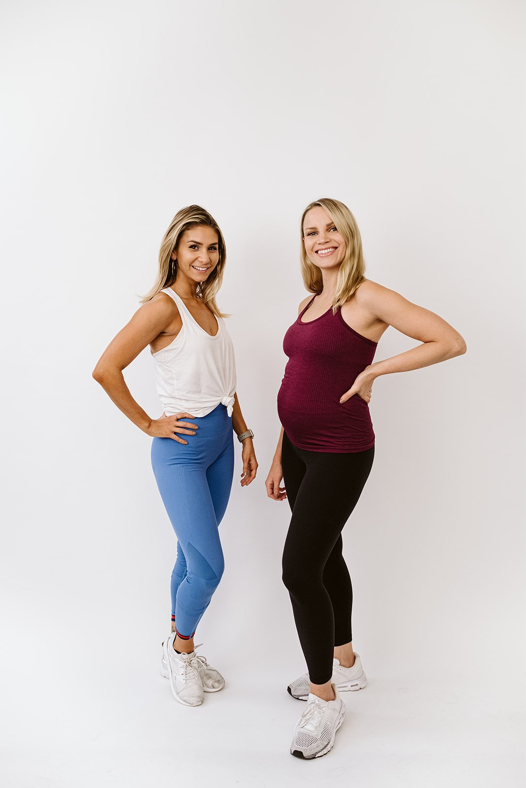 two women in workout clothes