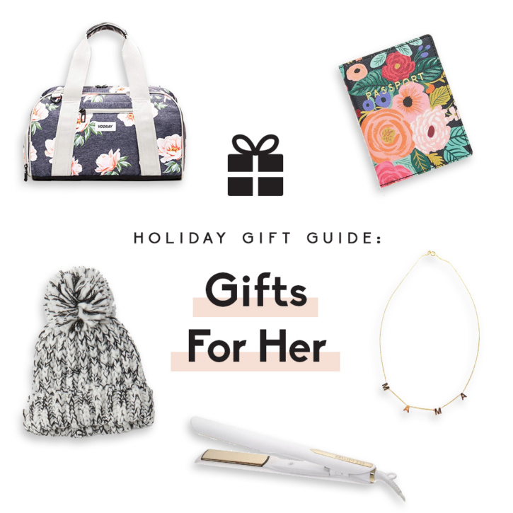 collage of gifts for women