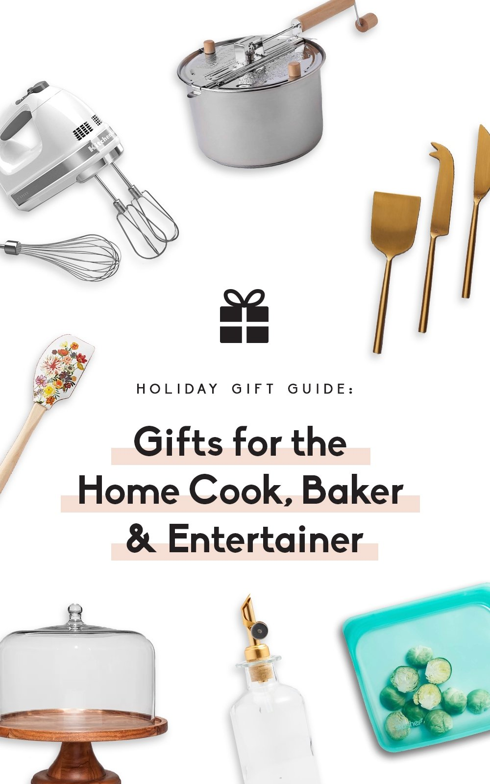 collage photo of gift guide for the home cook