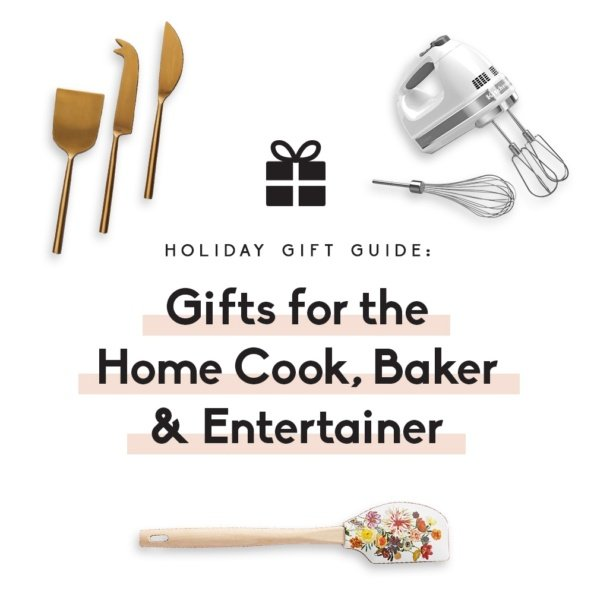 collage of gifts for cooks and bakers