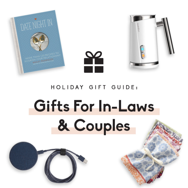 collage of gifts for in-laws and couples