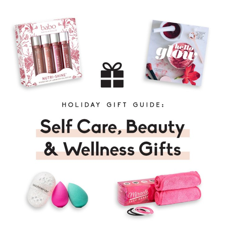 collage self care, beauty and wellness gifts
