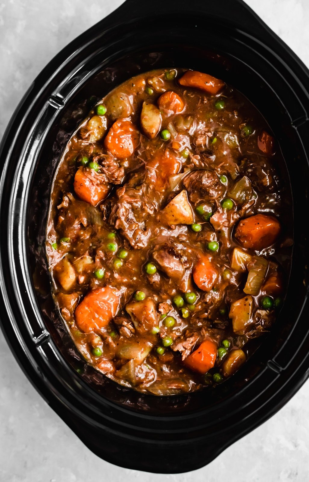 beef stew in the slow cooker
