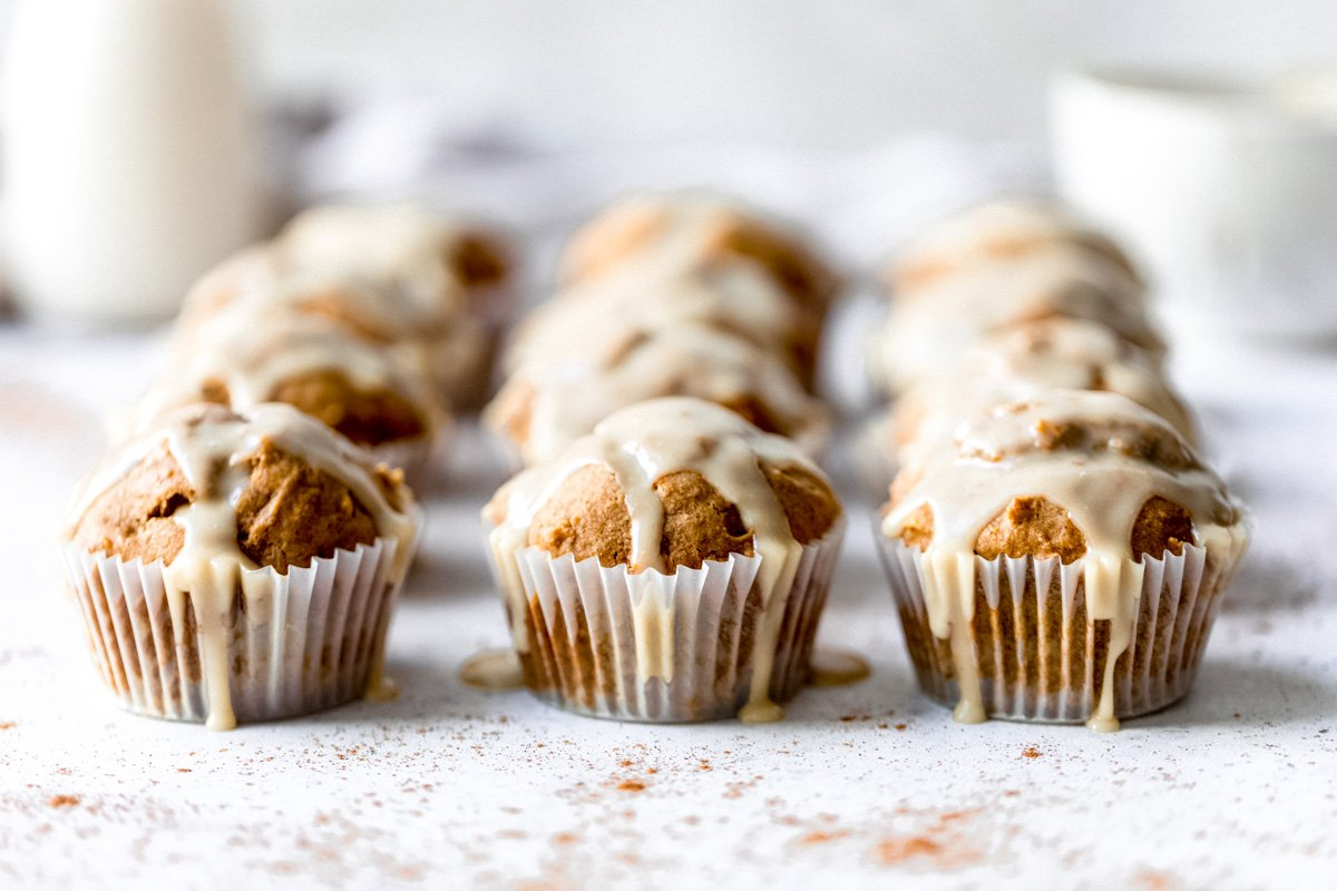 butternut squash muffins with glaze