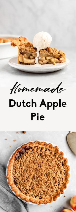 collage of dutch apple pie