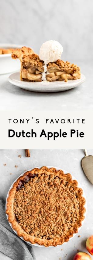collage of a homemade dutch apple pie recipe