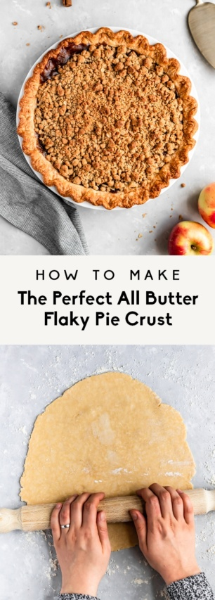 collage of the perfect pie crust recipe
