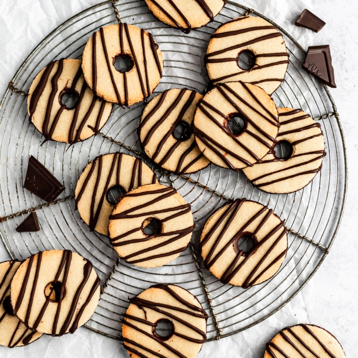 homemade fudge stripes cookies on a plate