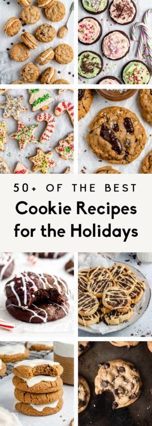collage of the best holiday cookie recipes