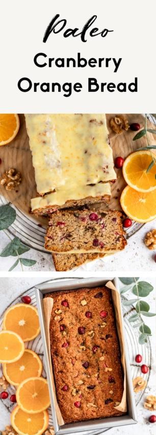 collage of gluten free cranberry orange bread