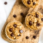 peanut butter banana baked oatmeal cups