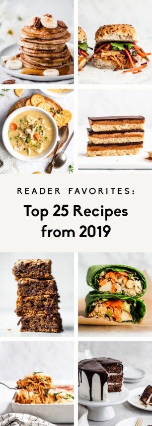 collage of the top 25 recipes from 2019