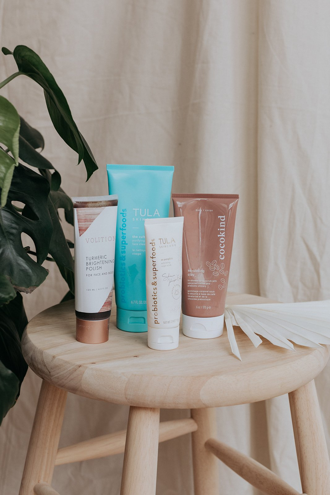 all natural cleansers on a bench