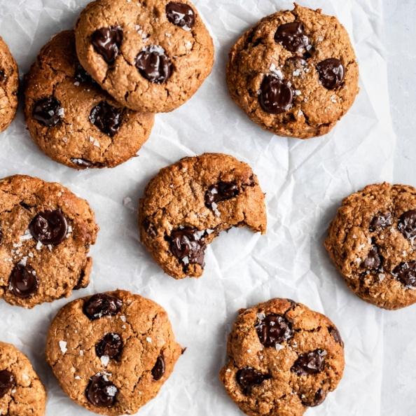 lactation cookies on parchment paper