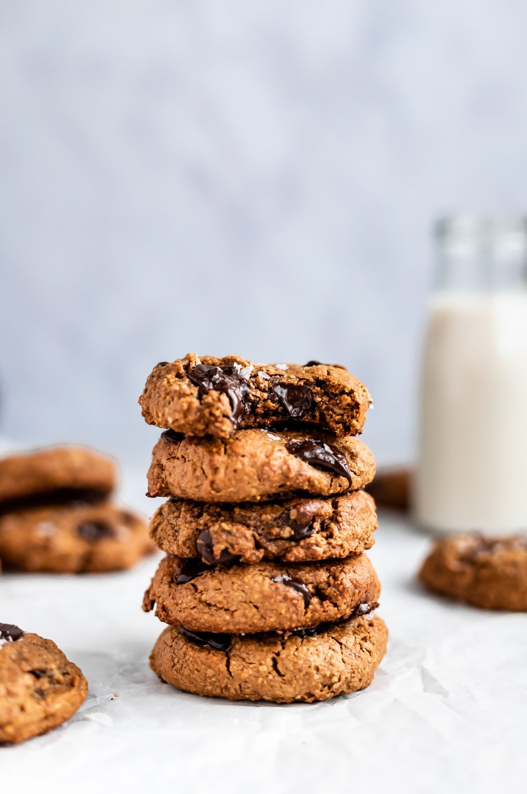 gluten free lactation cookies in a stack