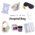 collage of what to bring to the hospital
