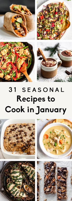 collage of recipes to cook in january