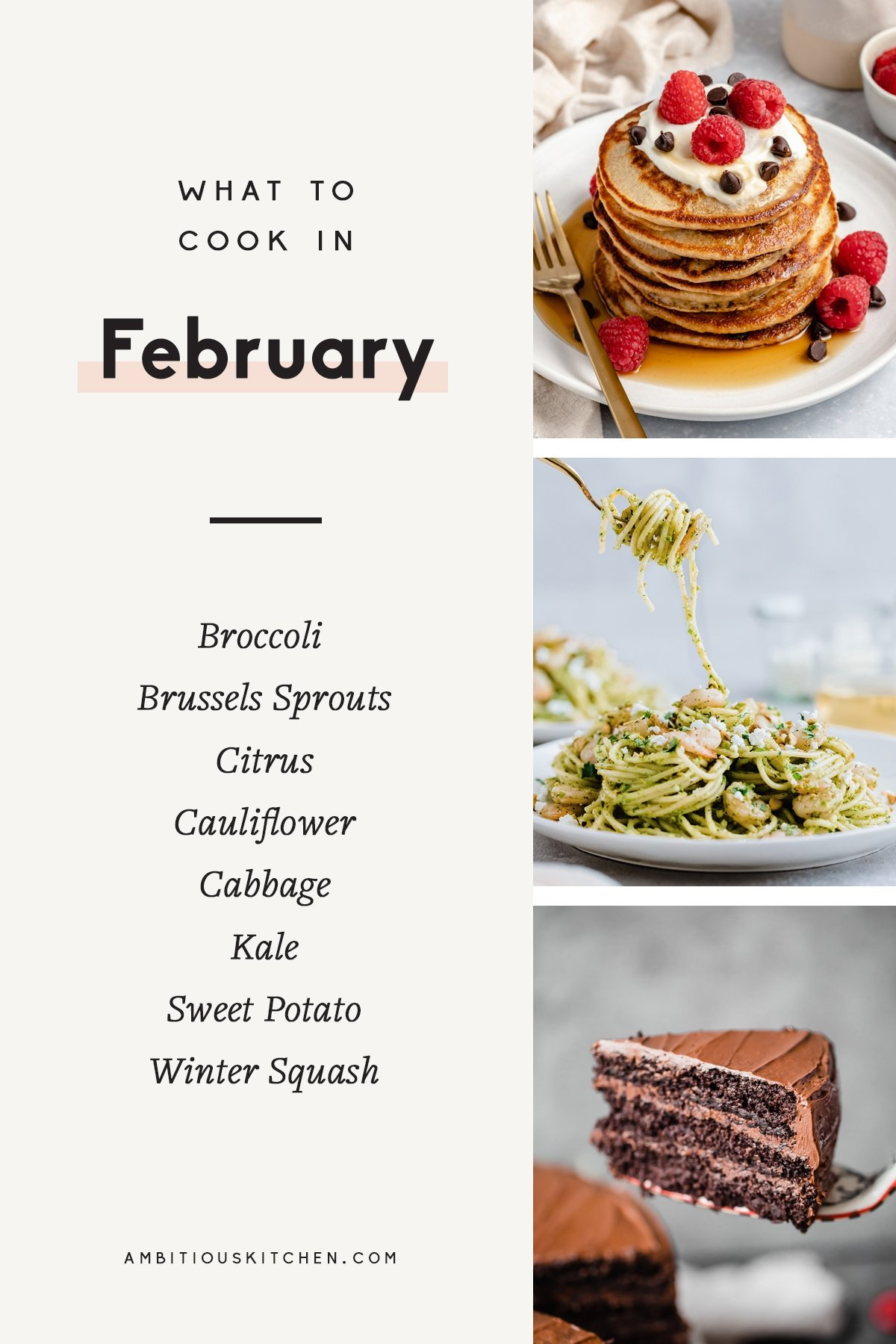 collage of recipes to cook in february