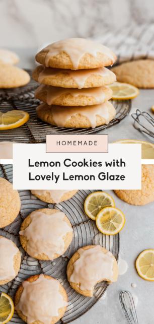 collage of lemon cookies