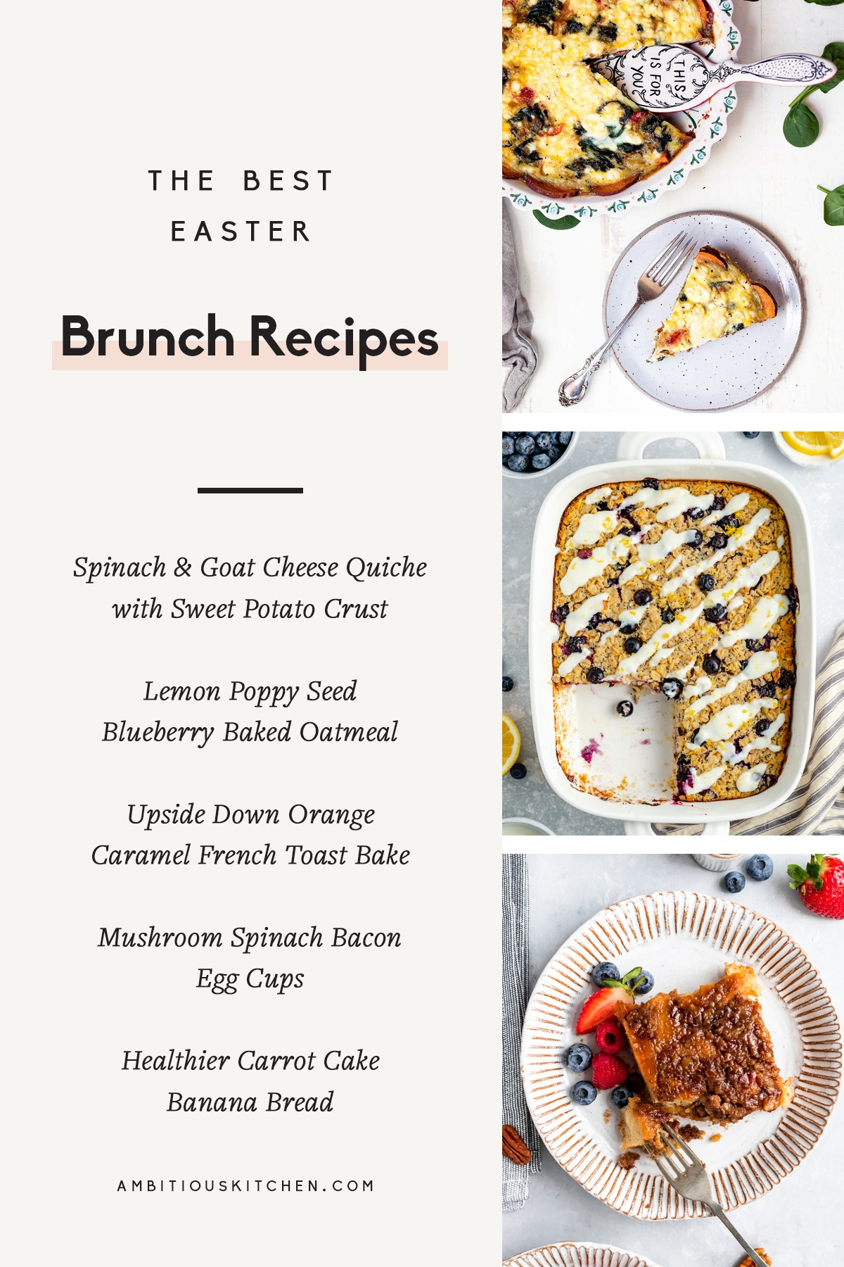 collage of the best easter brunch recipes