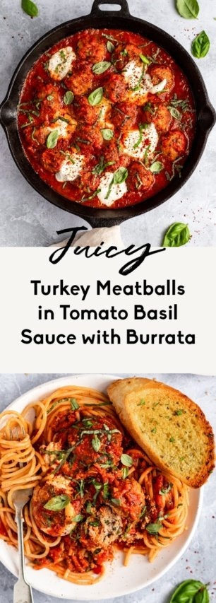 collage of homemade turkey meatballs