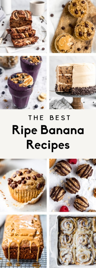 collage of ripe banana recipes