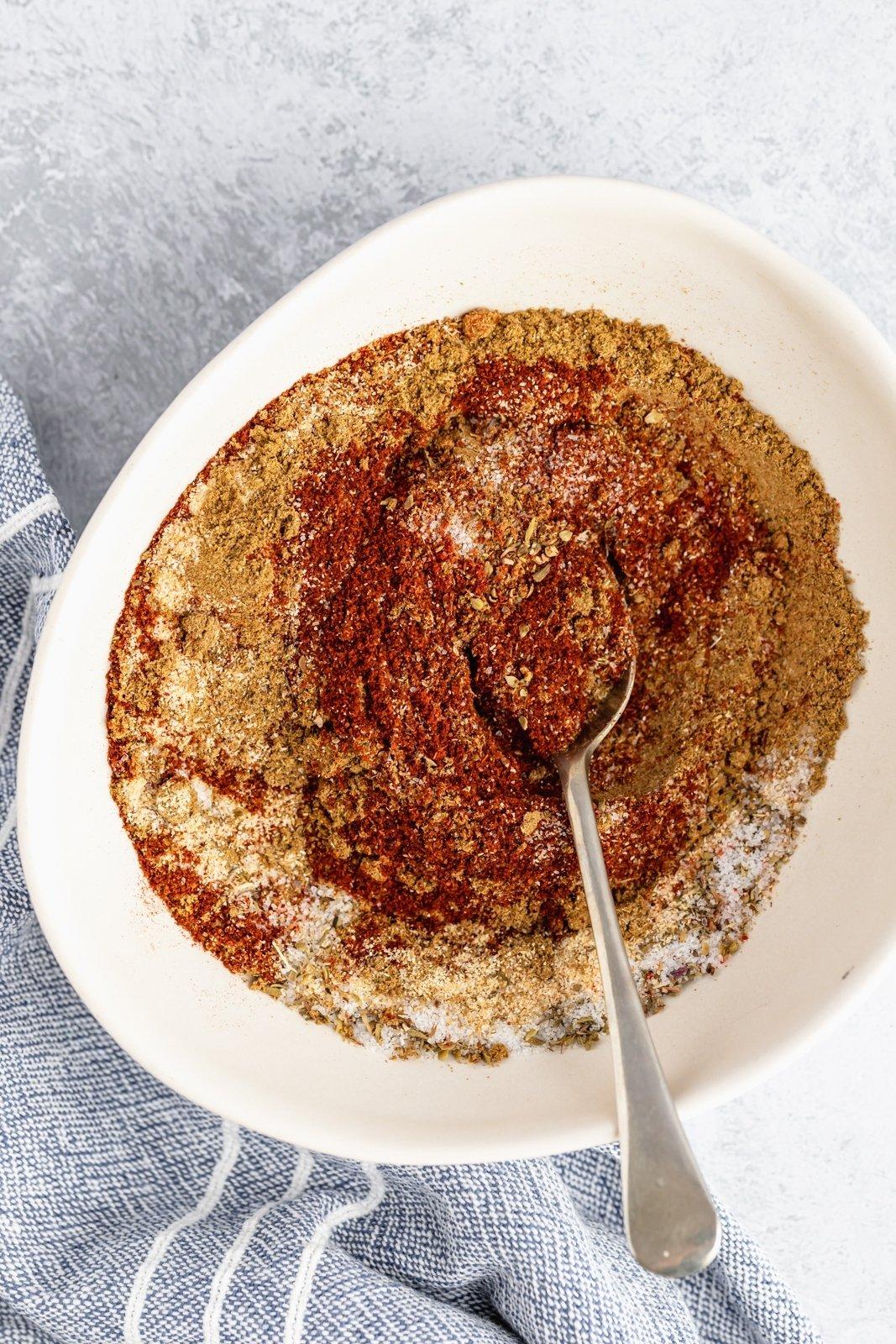 easy homemade taco seasoning mixed in a bowl