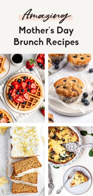 collage of mother's day brunch recipes