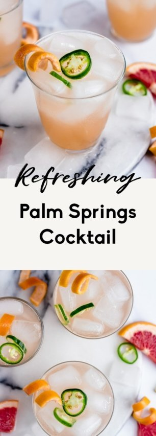collage of a palm springs cocktail