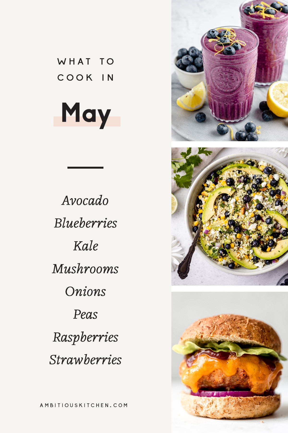 collage of recipes to cook in May
