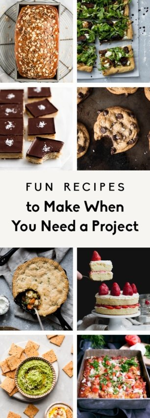 collage of recipes to make when you need a project