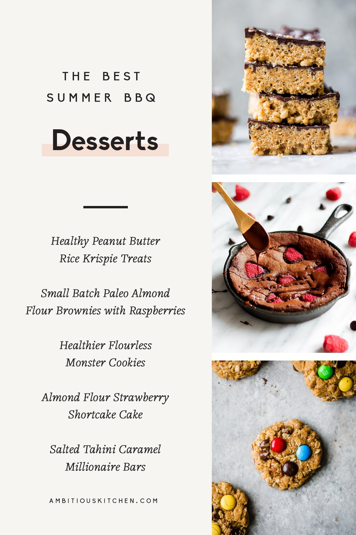 collage of summer bbq desserts