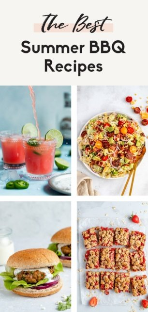collage of summer bbq recipes
