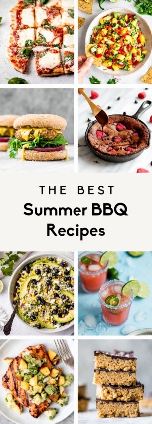collage of summer bbq ideas