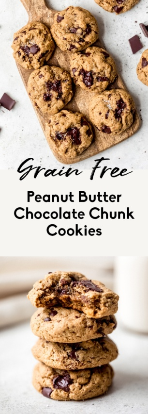collage of healthy peanut butter cookies
