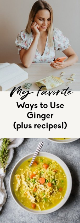 collage of ginger recipes