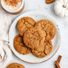 pumpkin snickerdoodles on a plate