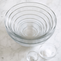 set of glass bowls