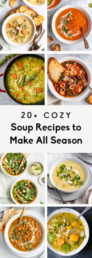 collage of the best soup recipes