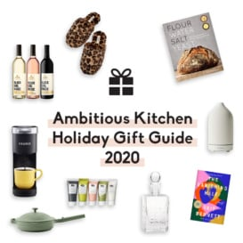 collage of holiday gift guide gifts