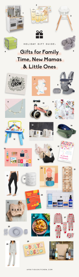 collage of gifts for new mamas