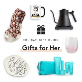 collage of gifts for her