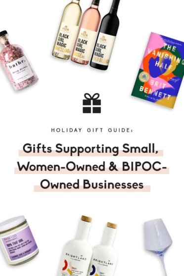 collage of gifts from women & BIPOC-owned businesses