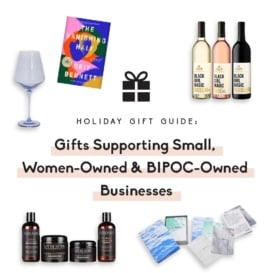 collage of gifts from small businesses