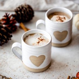 chai ginger latte in two mugs