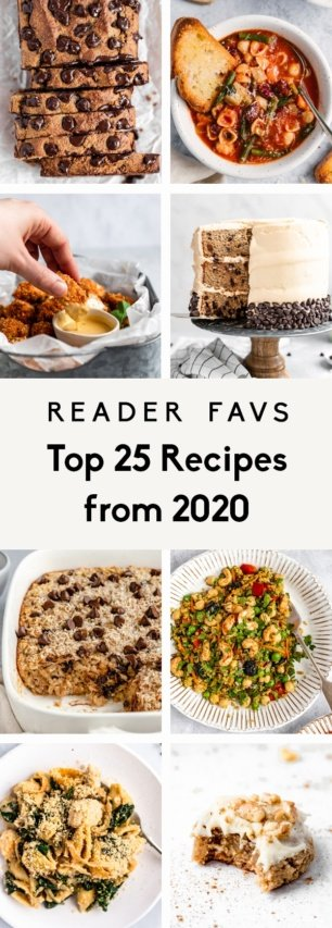 collage of the top 25 recipes from Ambitious Kitchen